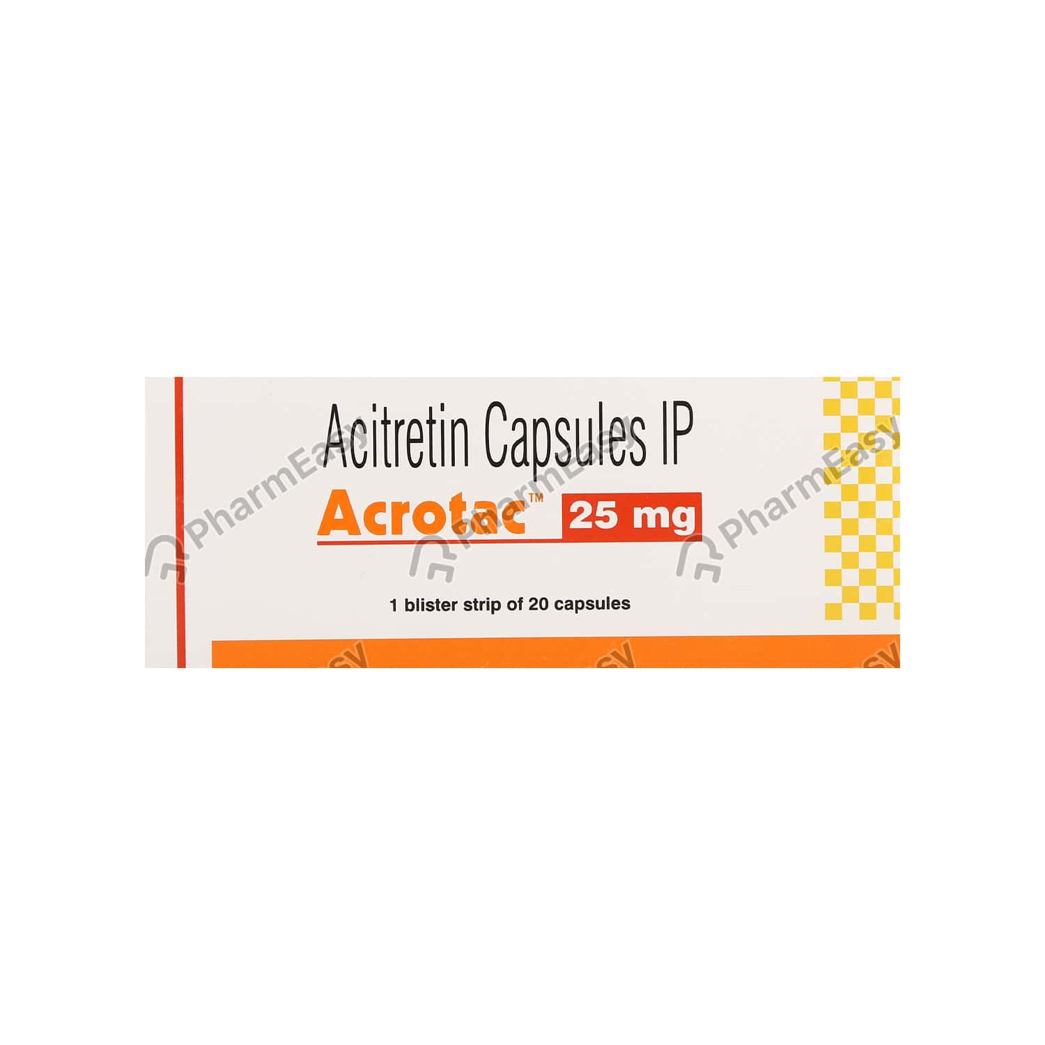 Acrotac 25mg Strip Of 20 Capsules
