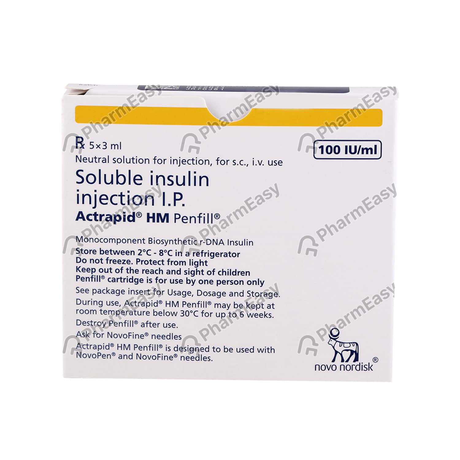 Actrapid Hm Penfill Injection 3ml