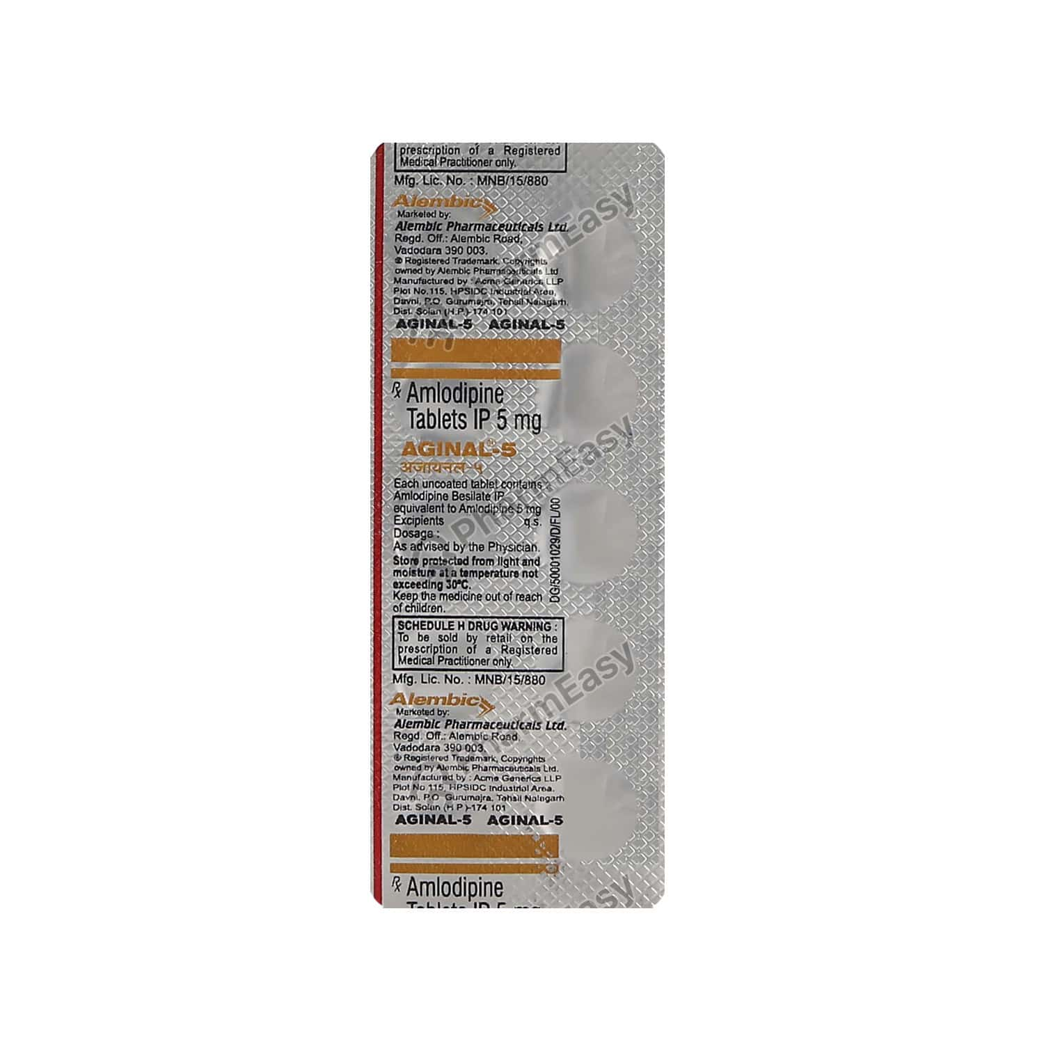 Aginal 5mg Tablet