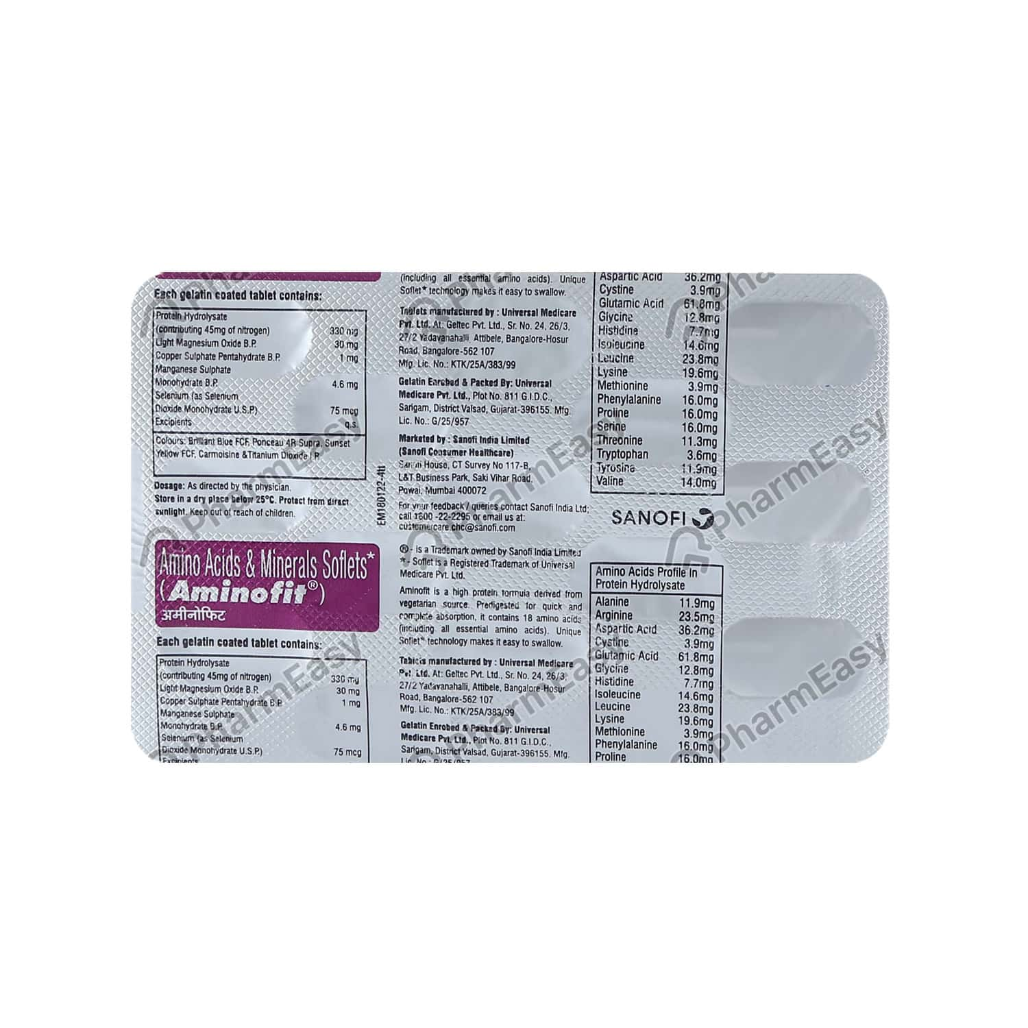 Aminofit Strip Of 15 Tablets