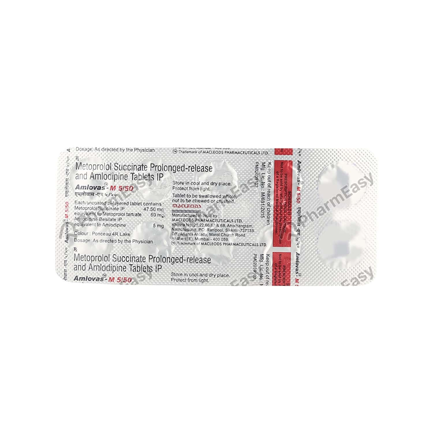 Amlovas M 5/50mg Tablet