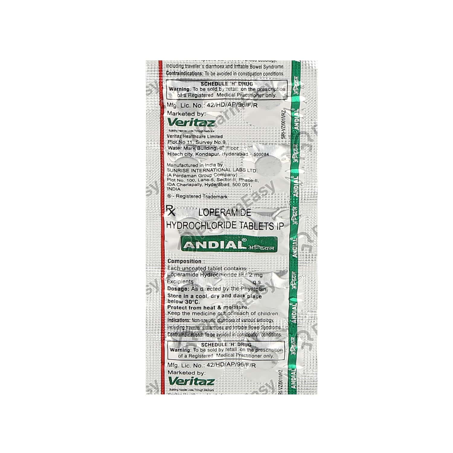 Andial 2mg Tablet