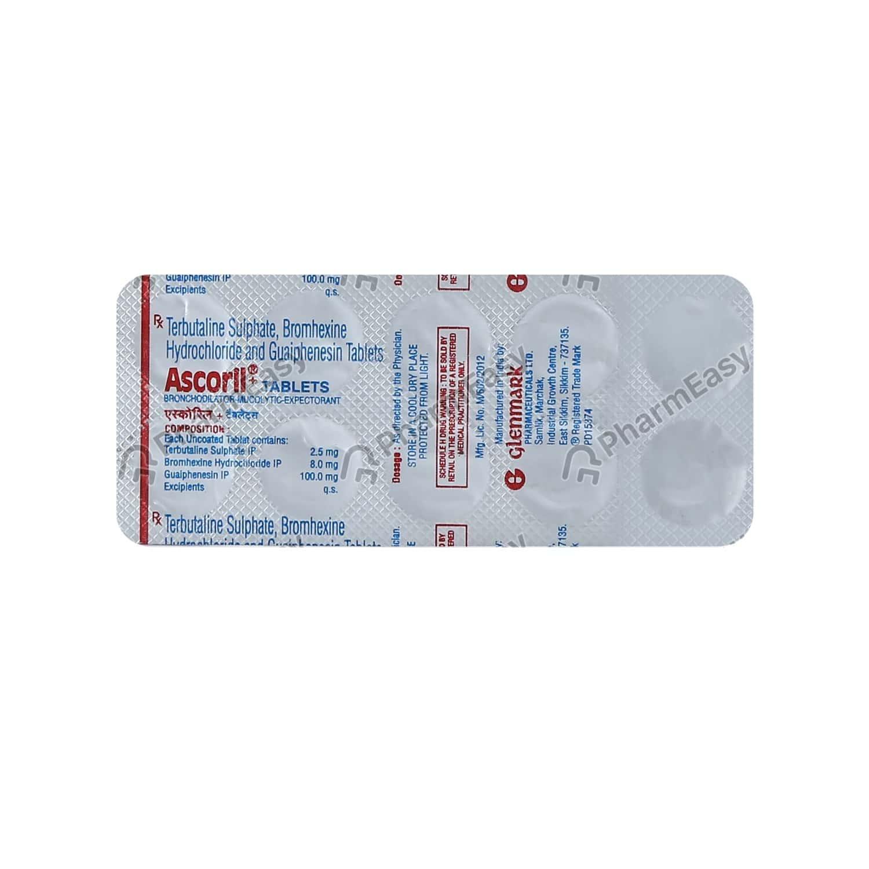 Ascoril Plus Strip Of 10 Tablets