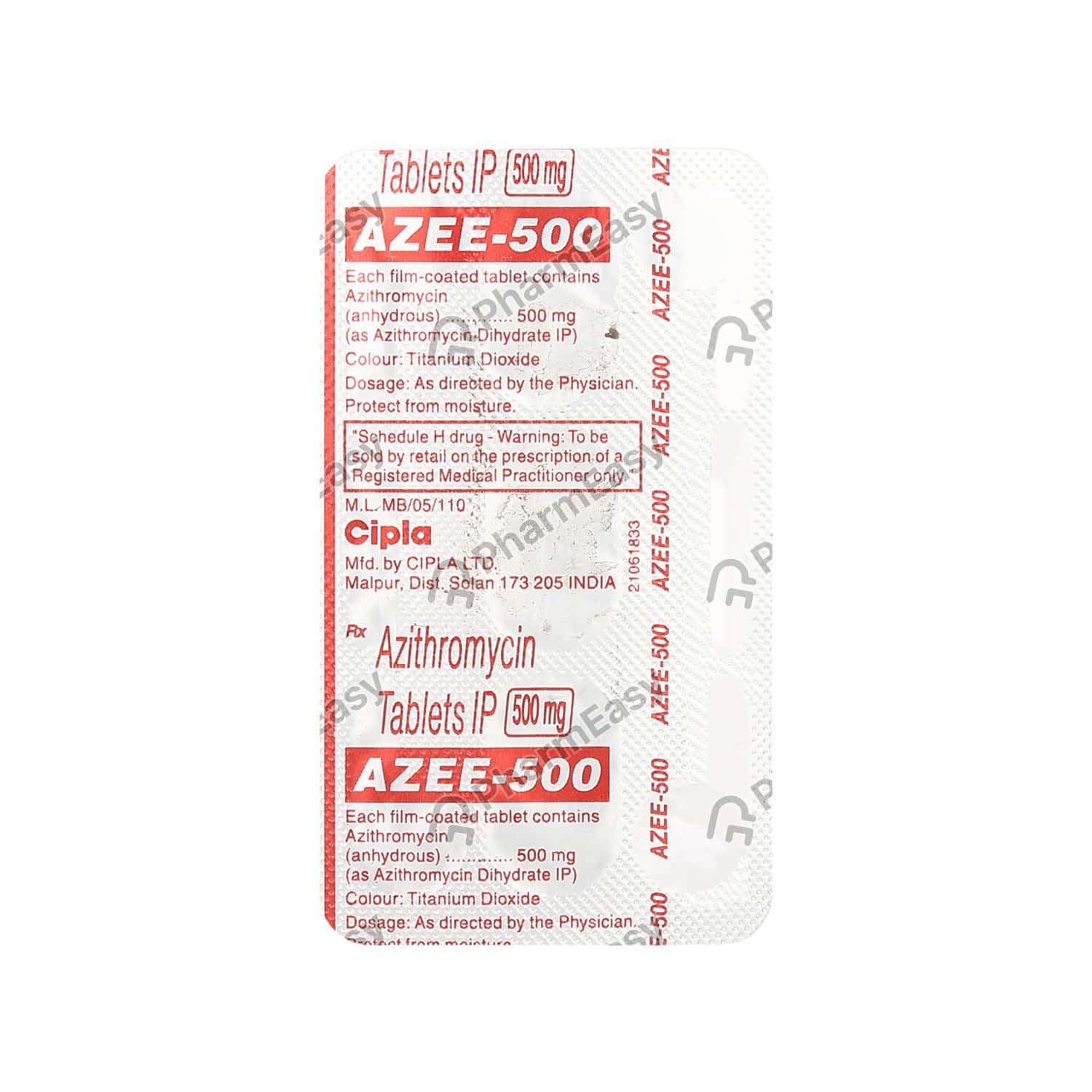 Azee 500mg Strip Of 3 Tablets