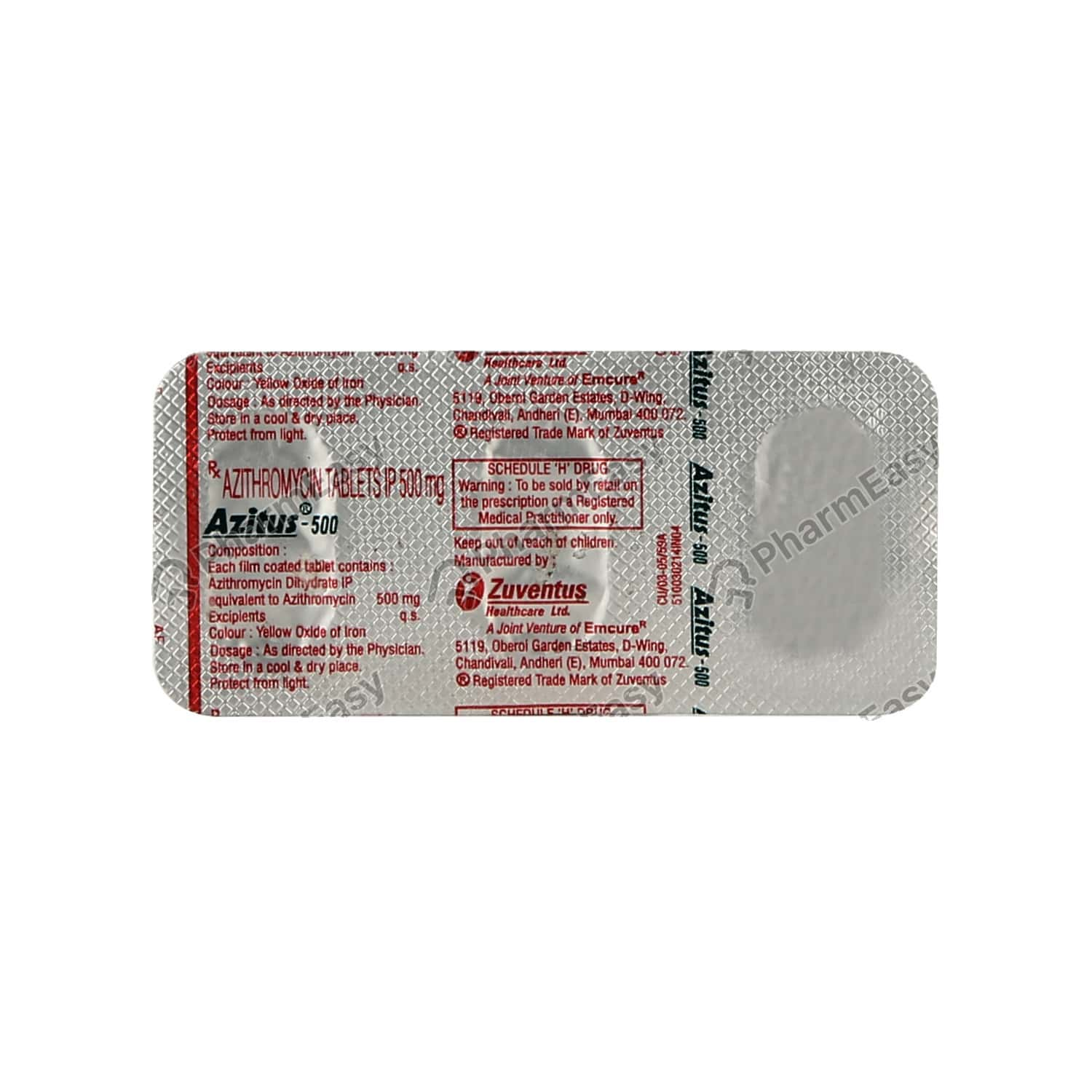 Azitus 500mg Tablet