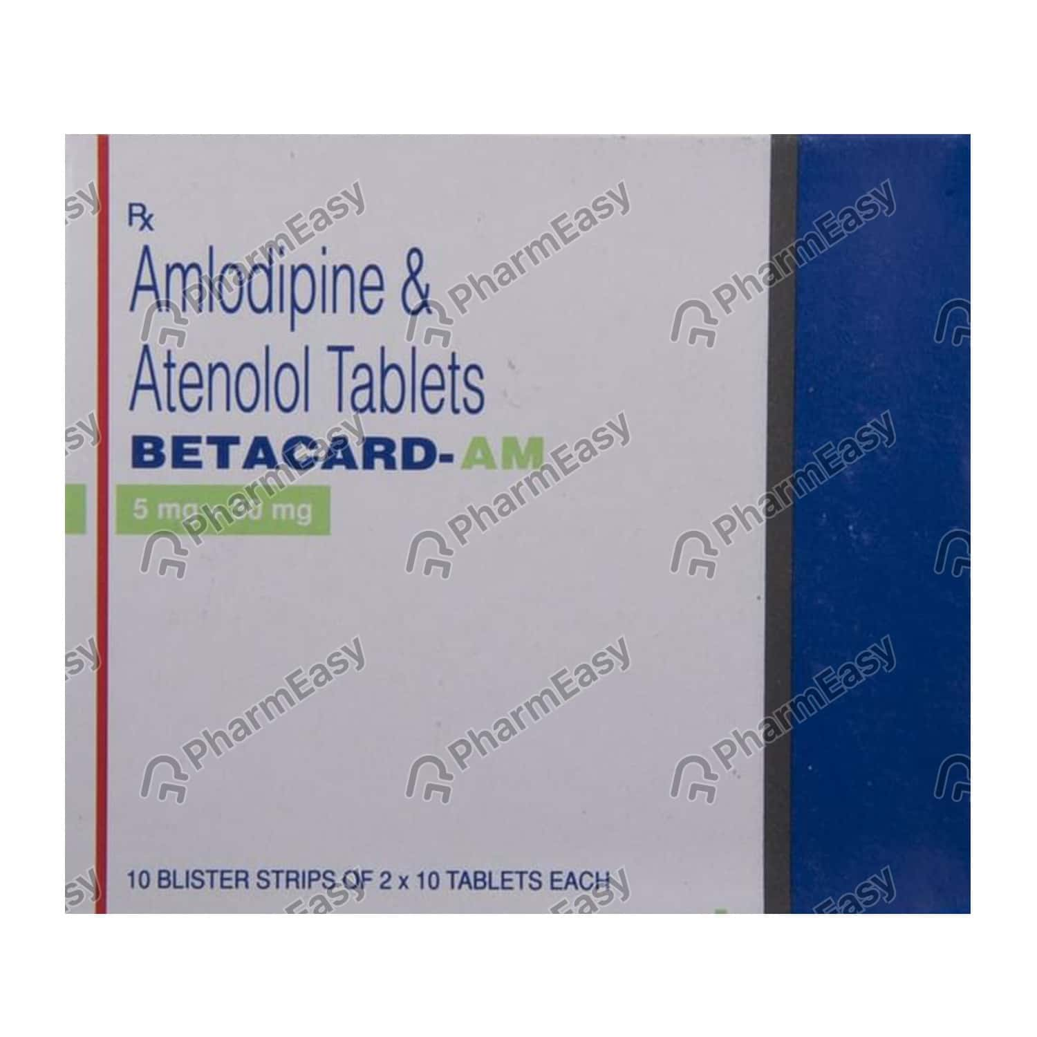 Betacard Am 5/50mg Strip Of 10 Tablets