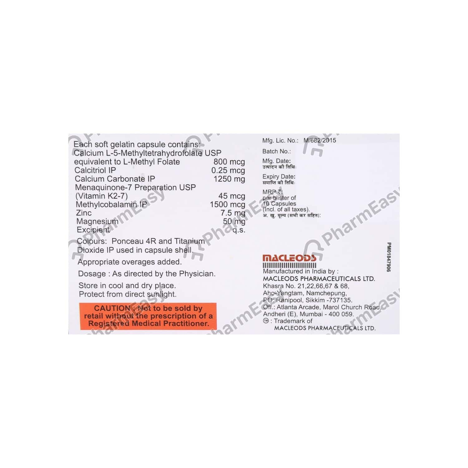 Bio D3 Strong Strip Of 10 Capsules