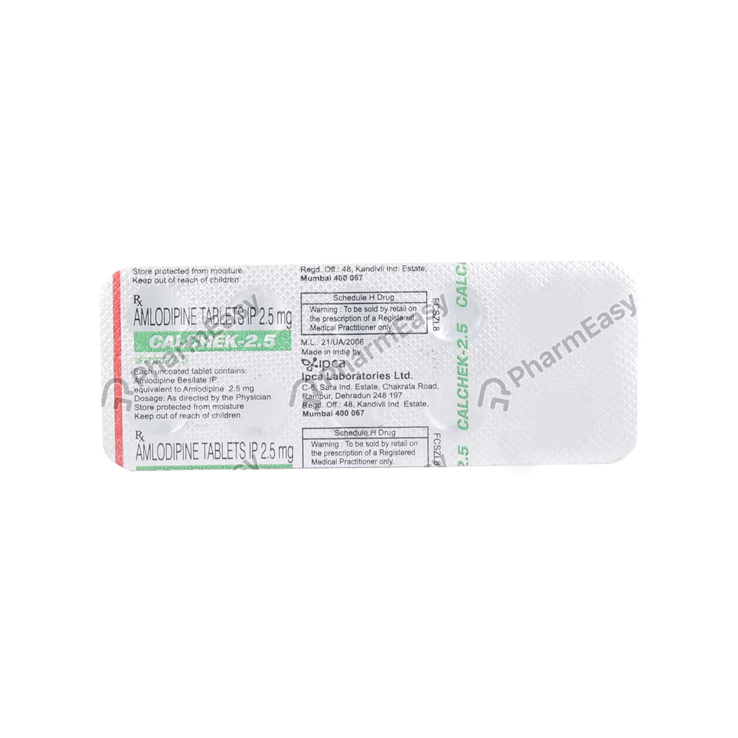 Calchek 2.5mg Tablet