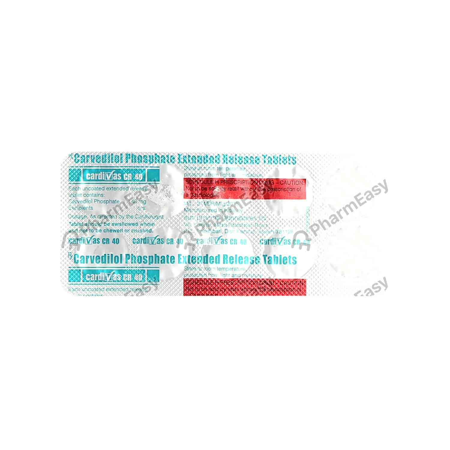 Cardivas Cr 40mg Strip Of 10 Tablets
