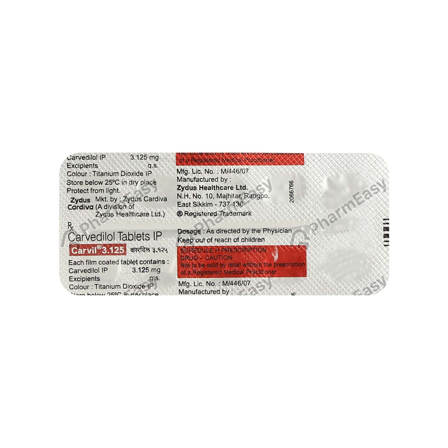 Carvil 3.125mg Tablet