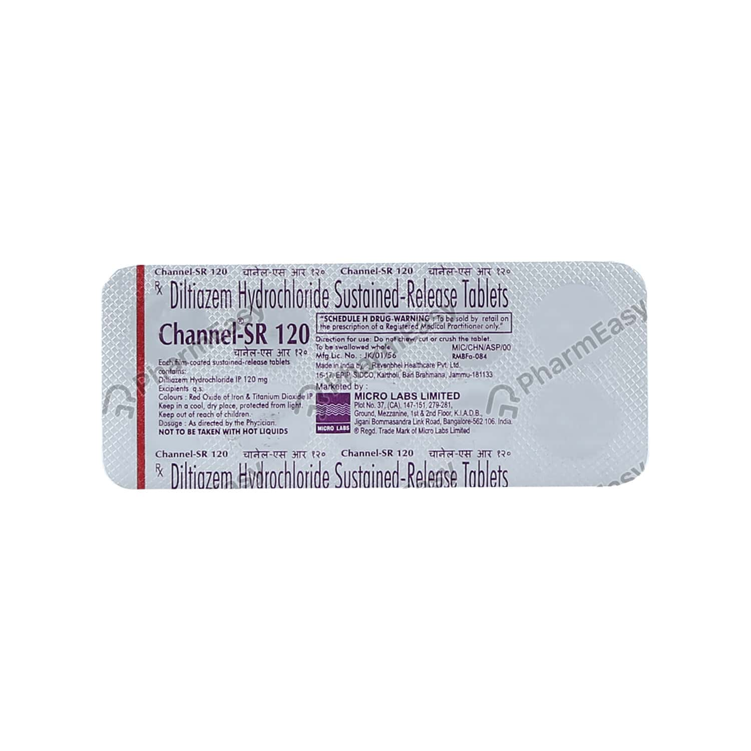 Channel Sr 120mg Tablet