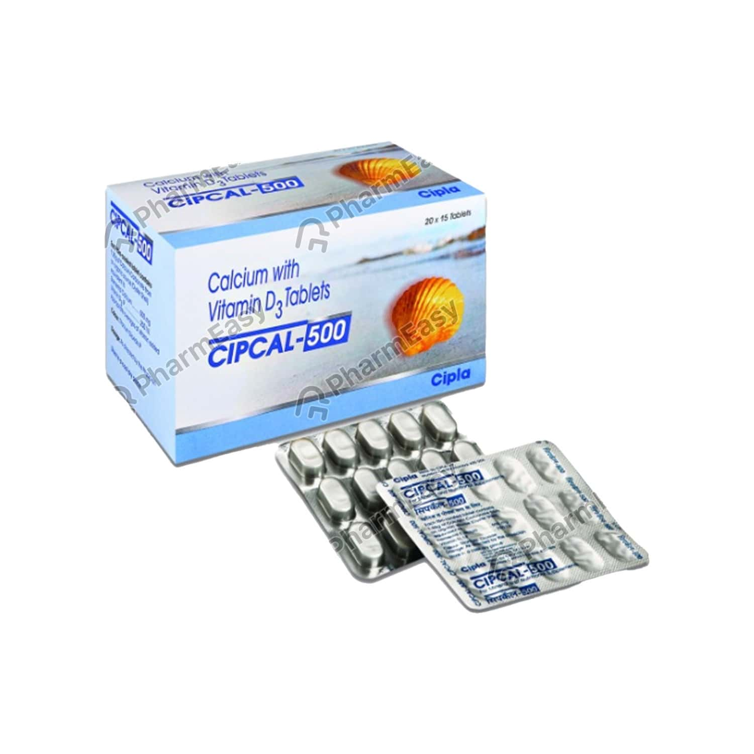 Cipcal 500mg Strip Of 15 Tablets