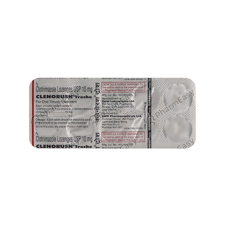 Clenorush Troche 10mg Strip Of 10 Tablets