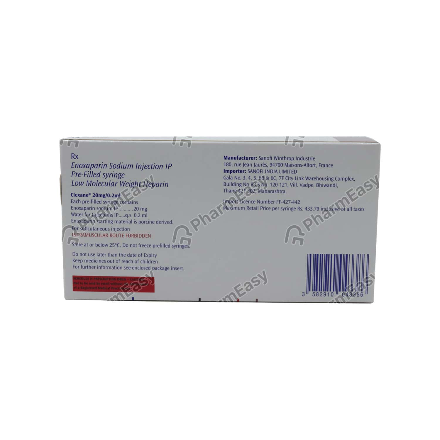 Clexane 20mg Injection Psf 0.2ml
