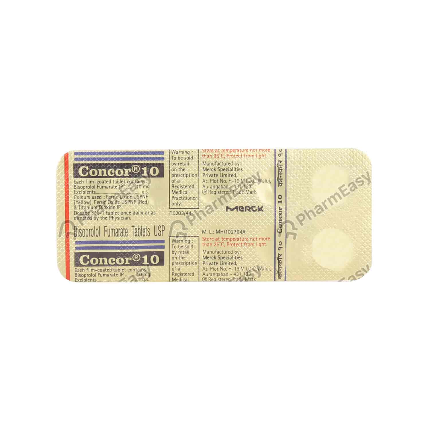 Concor 10mg Tablet