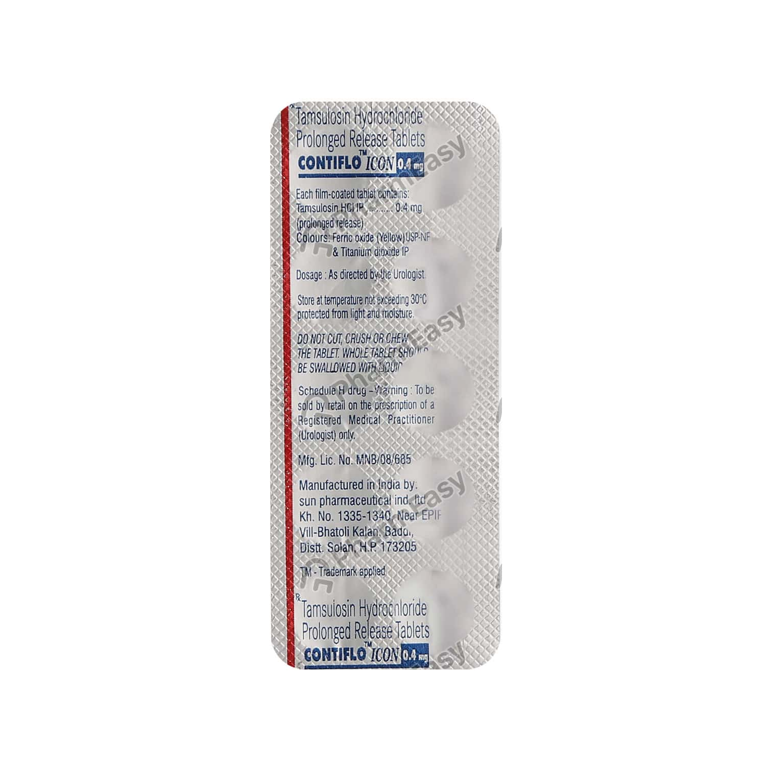 Contiflo Icon 0.4mg Strip Of 10 Tablets