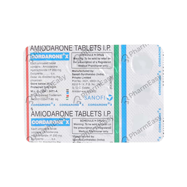 Cordarone X 200mg Strip Of 10 Tablets