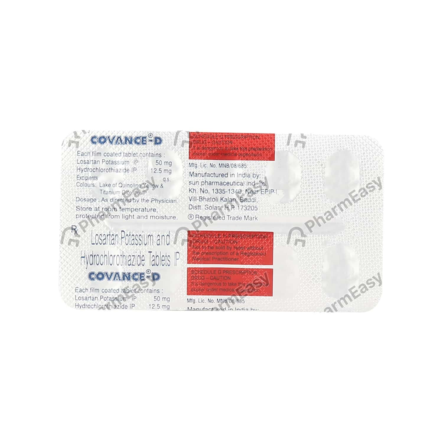Covance D Strip Of 10 Tablets