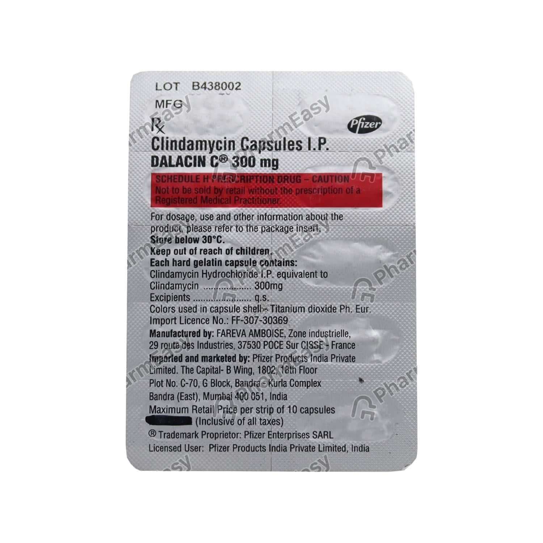 Dalacin C 300mg Strip Of 10 Capsules