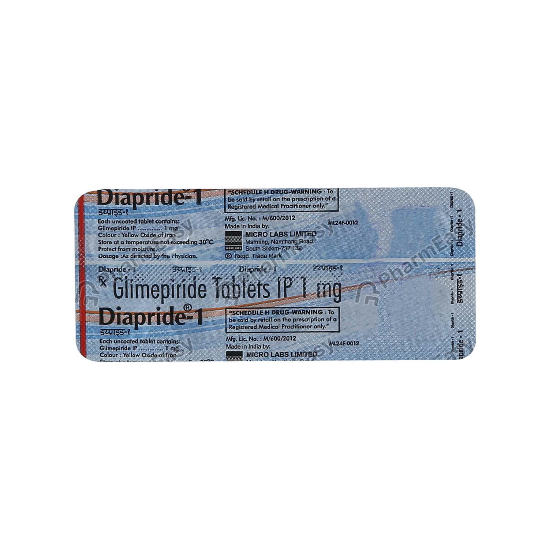 Diapride 1mg Tablet