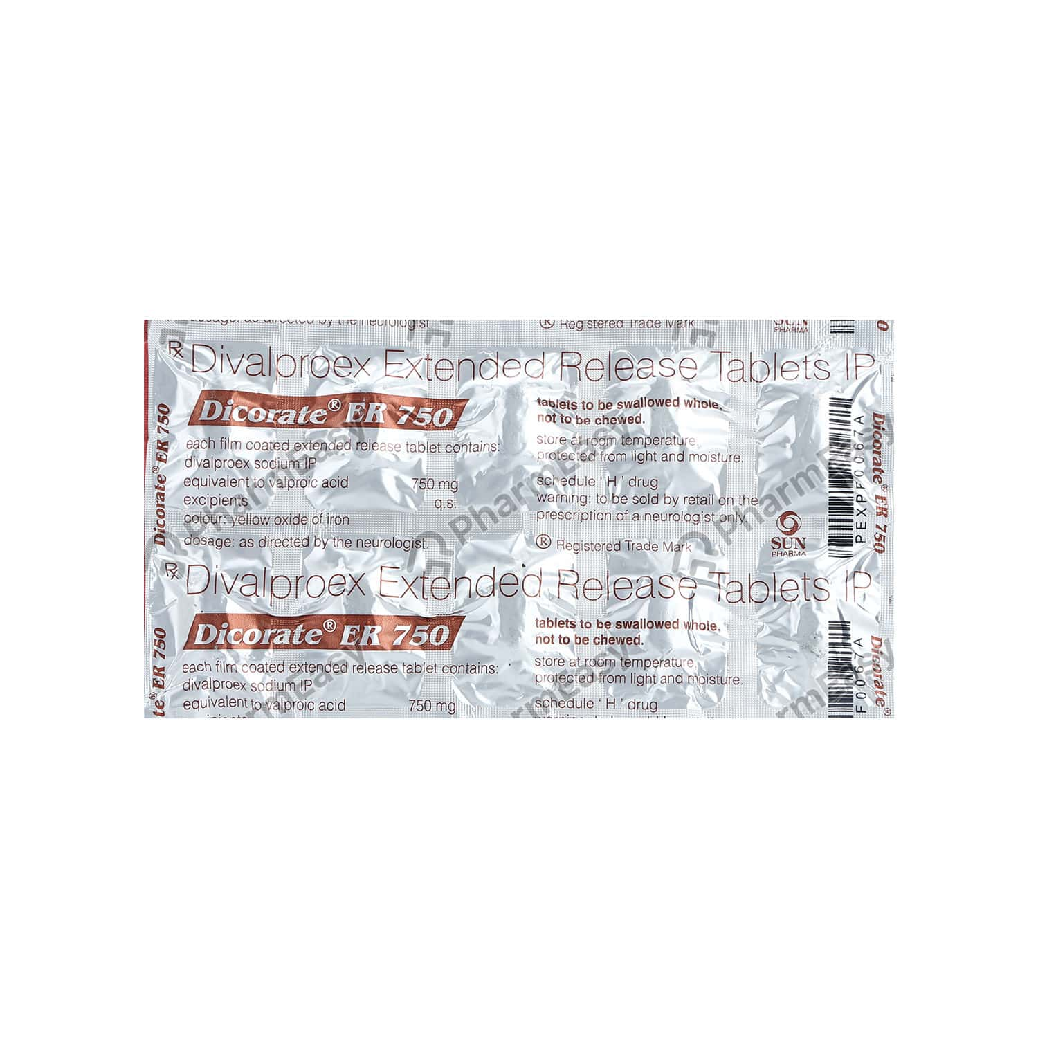 Dicorate Er 750mg Tablet