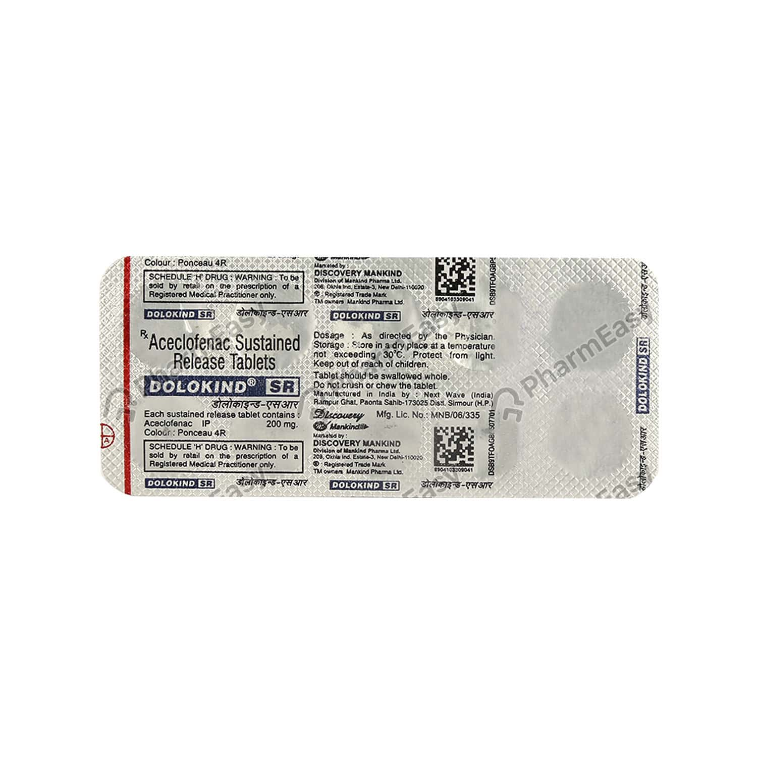 Dolokind Sr 200mg Strip Of 10 Tablets