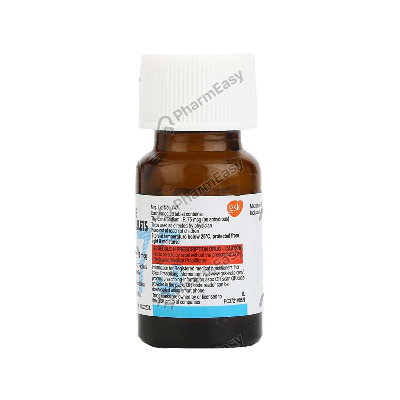 Eltroxin 75mcg Bottle Of 60 Tablets