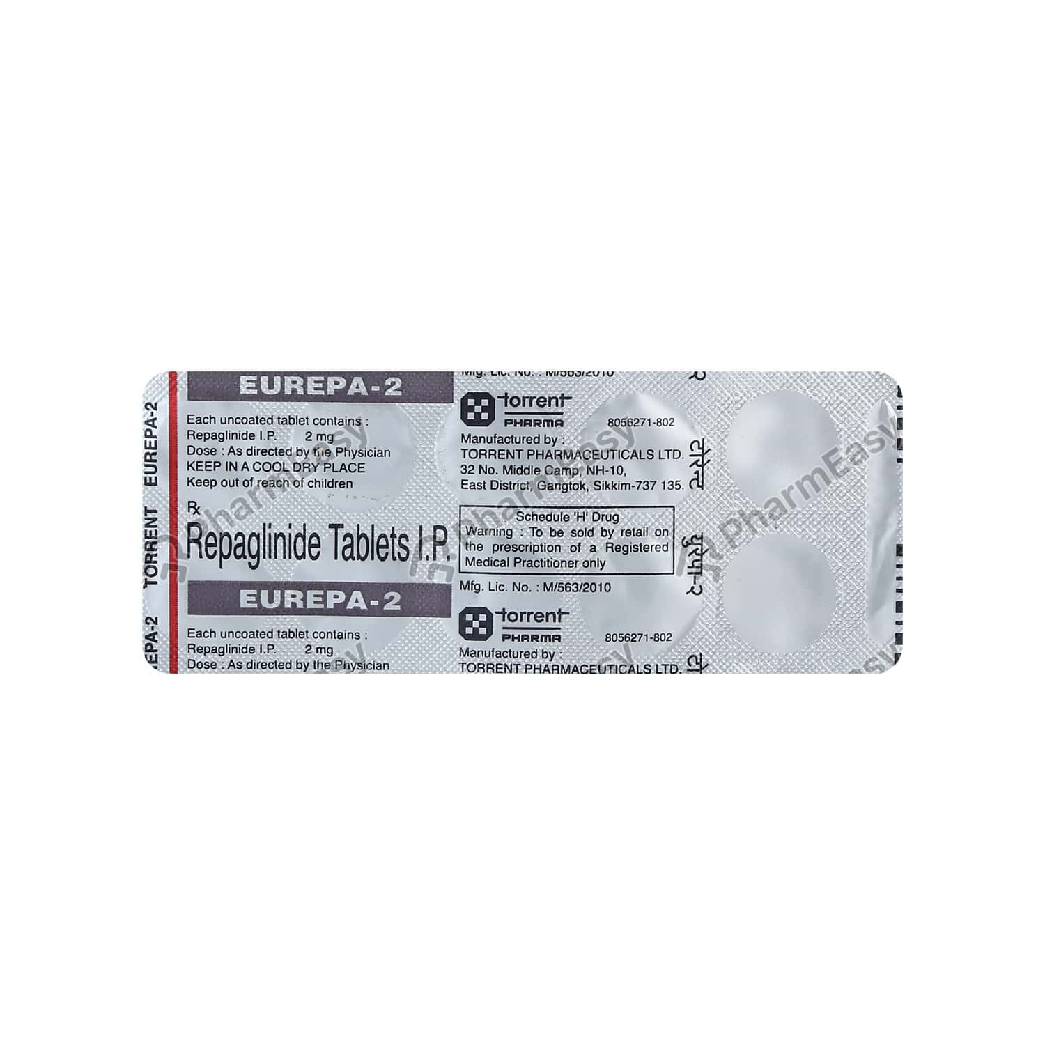 Eurepa 2mg Strip Of 10 Tablets