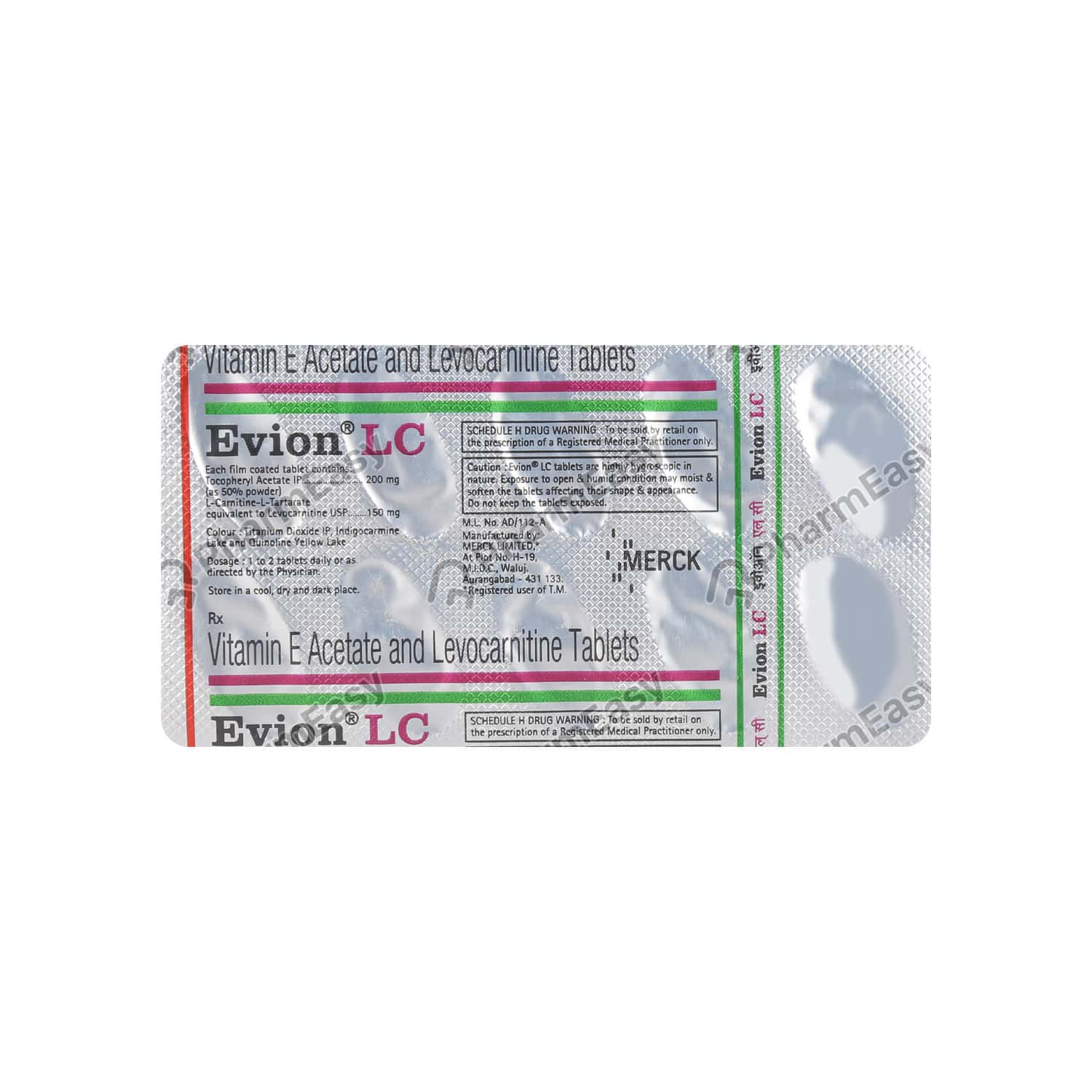 Evion Lc Strip Of 10 Tablets