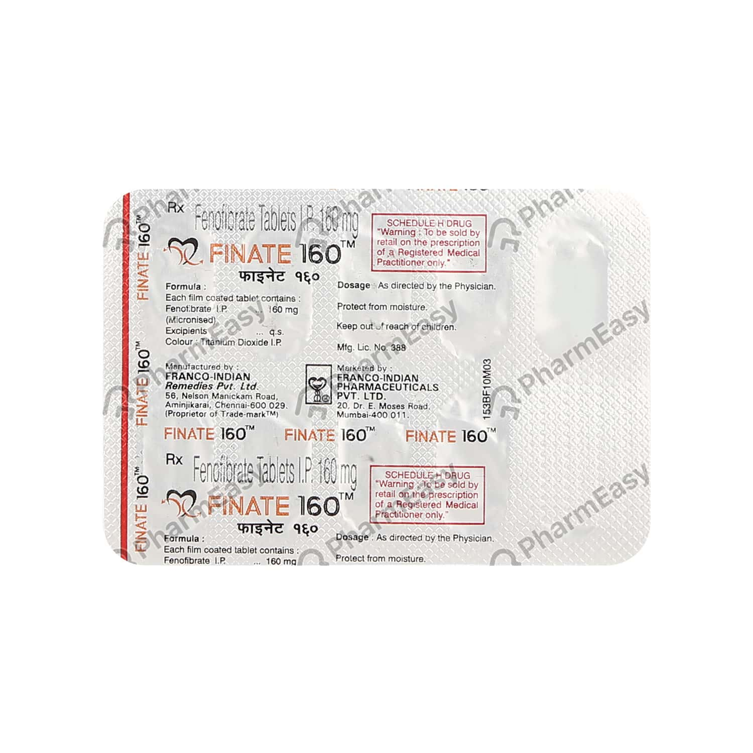 Finate 160mg Tablet