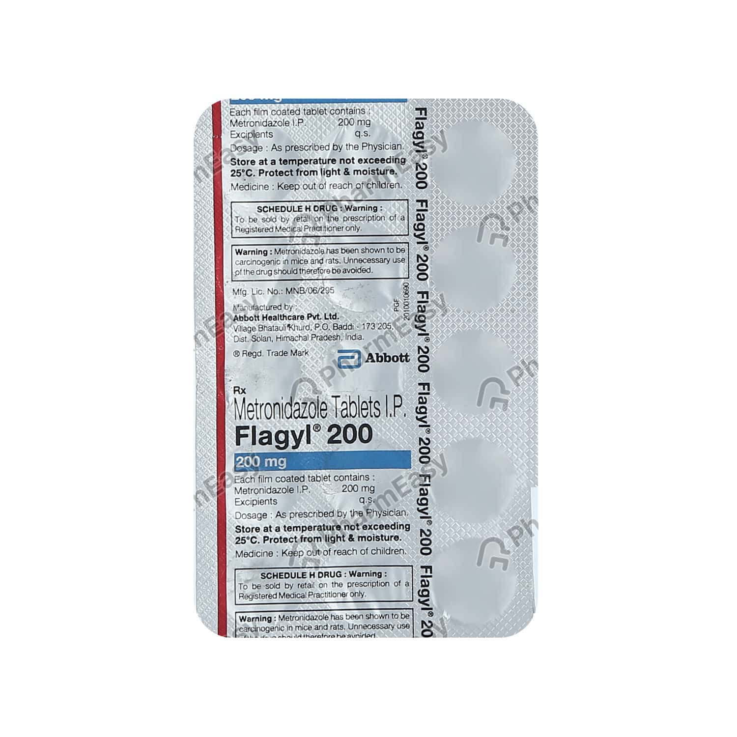 Flagyl 200mg Tablet