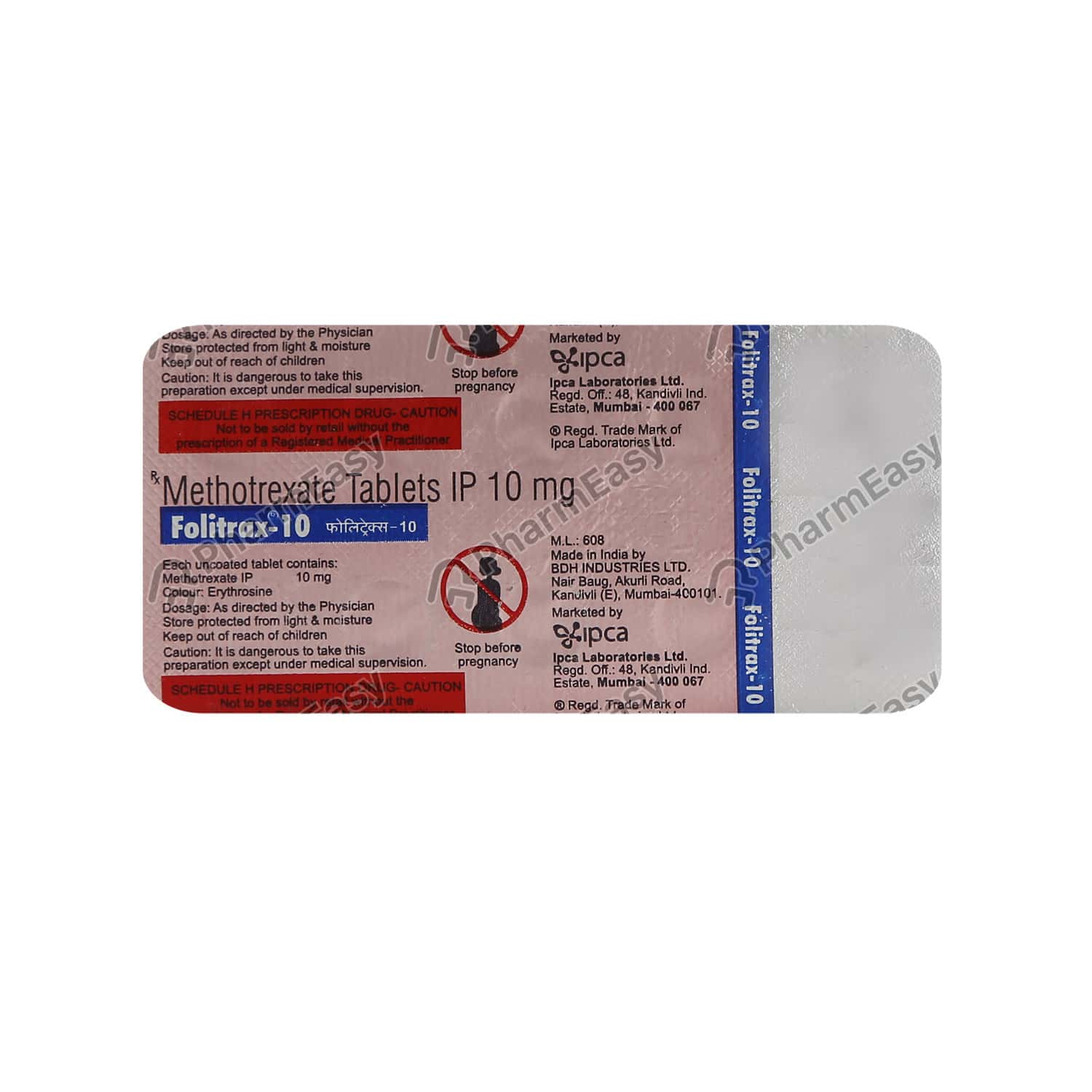 Folitrax 10mg Strip Of 10 Tablets