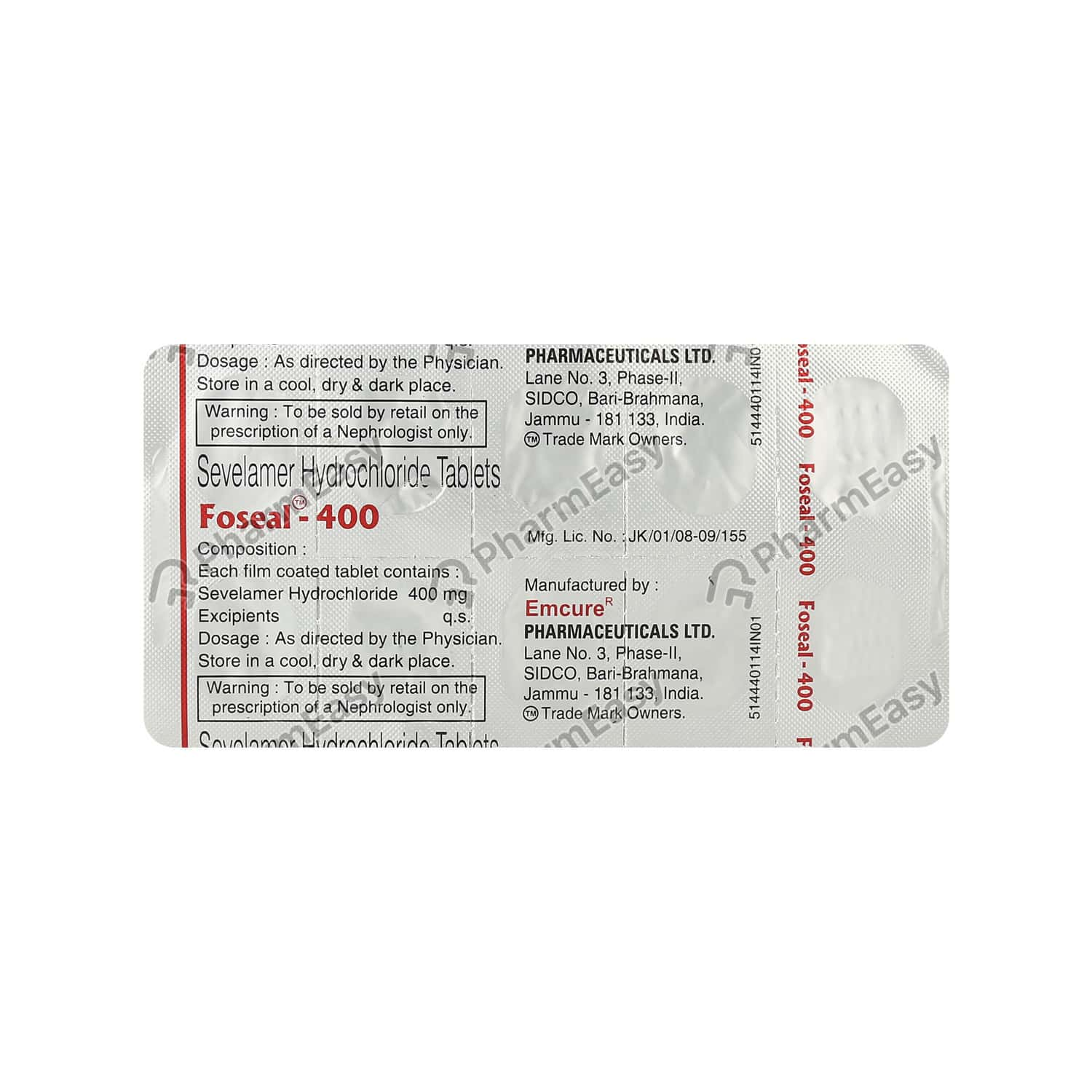 Foseal 400mg Tablet