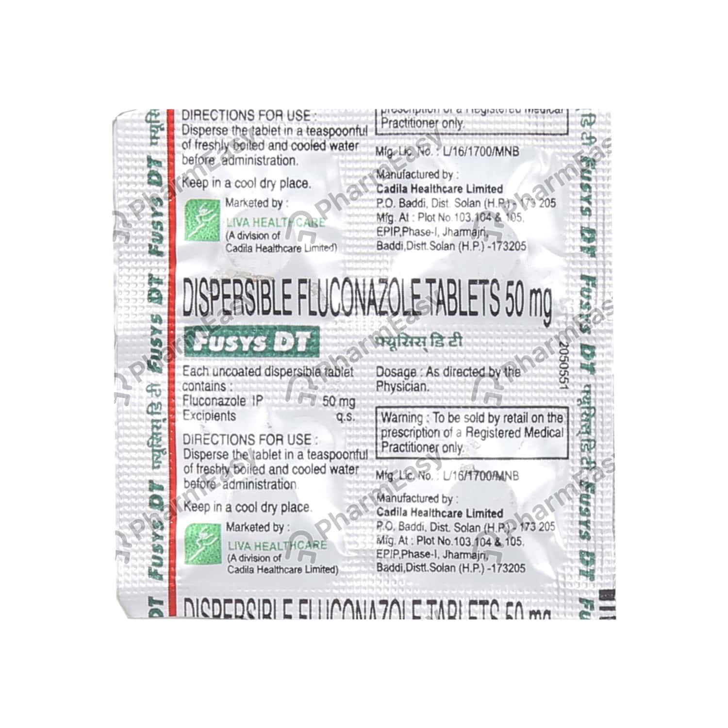Fusys Dt 50mg Tablet