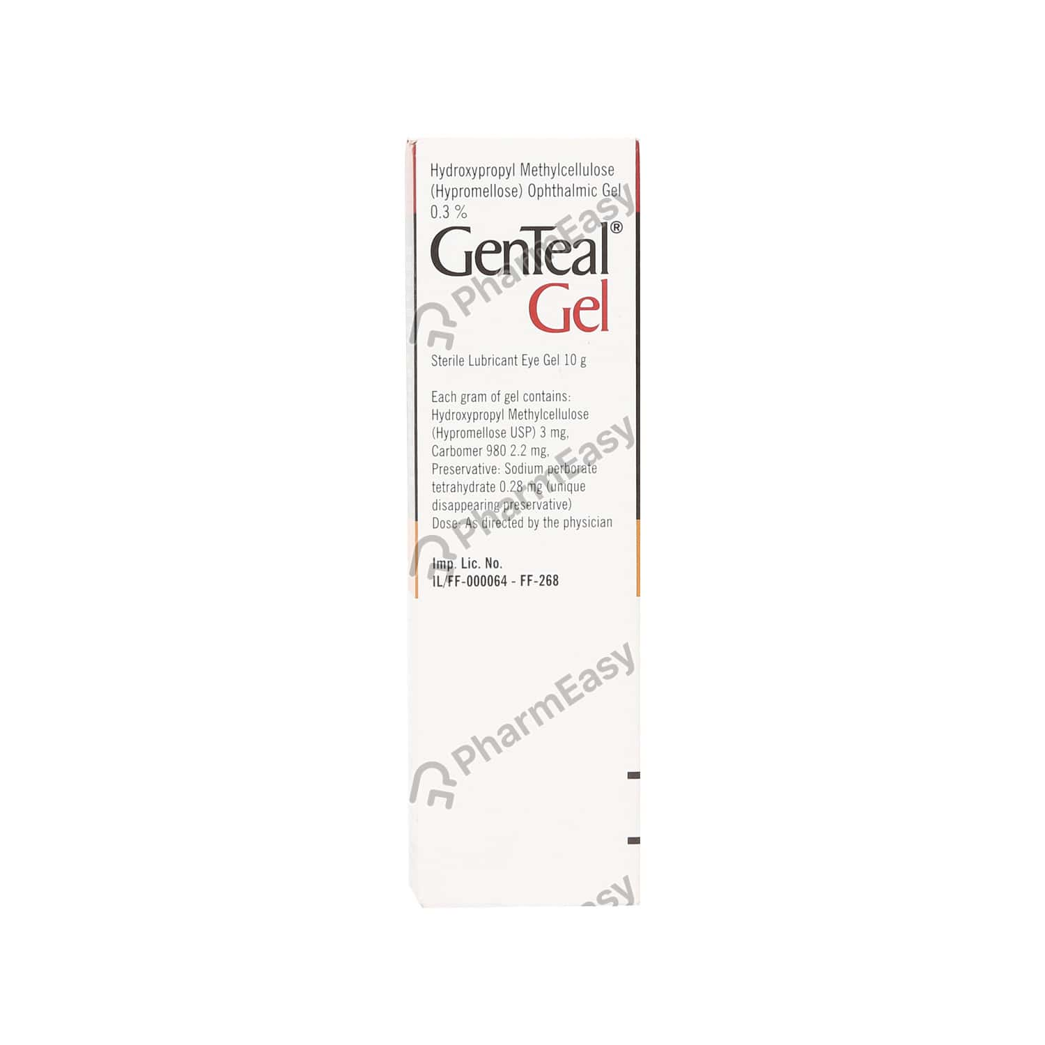 Genteal Tube Of 10gm Eye Gel