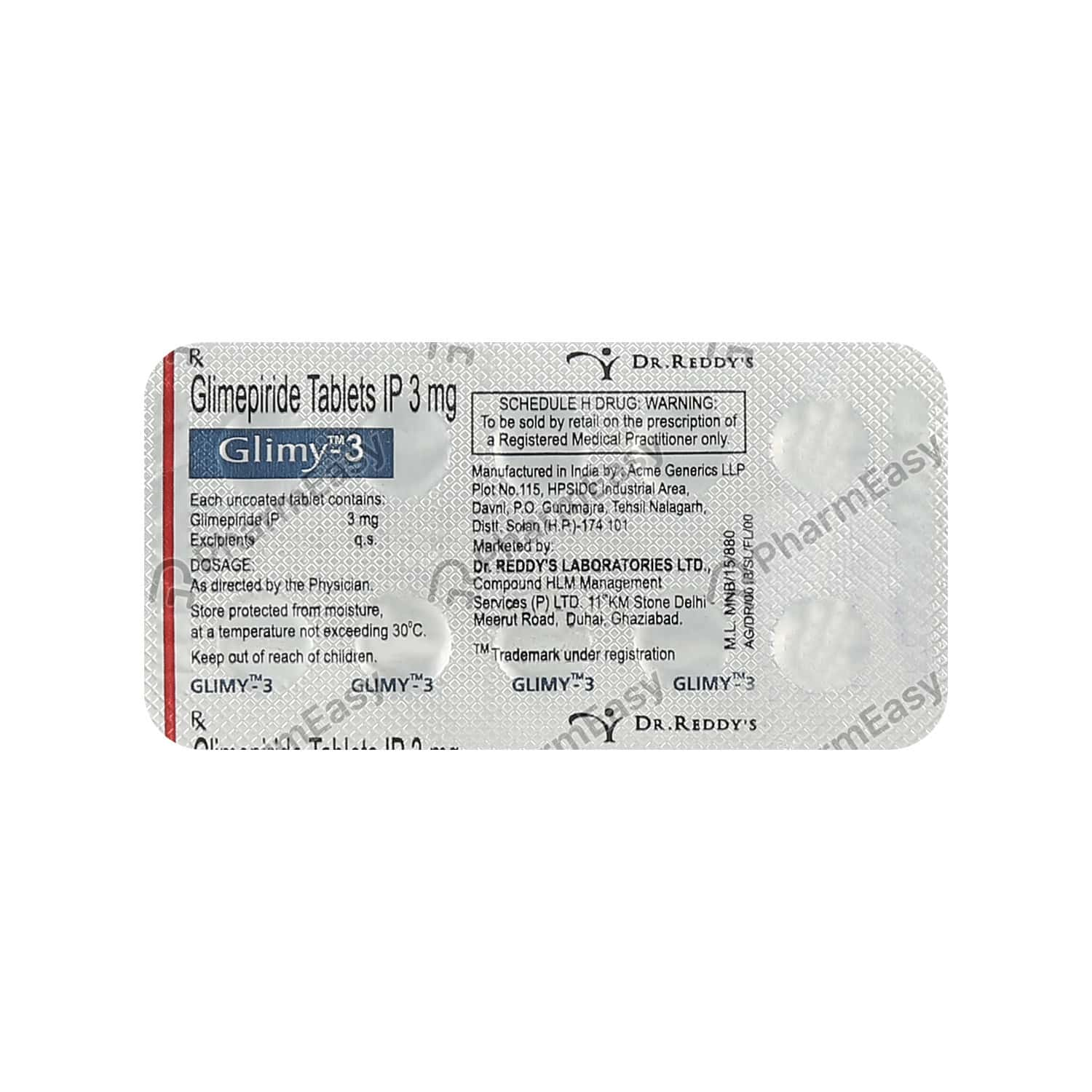 Glimy 3mg Tablet