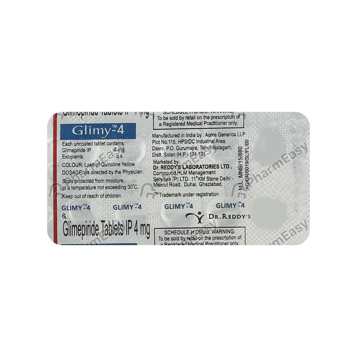 Glimy 4mg Tablet