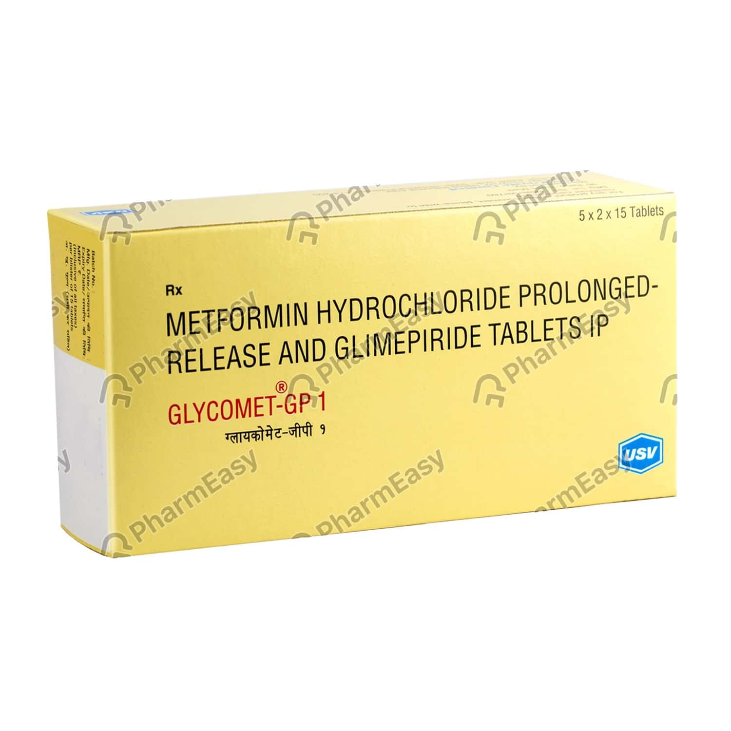 Glycomet Gp 1mg Tablet