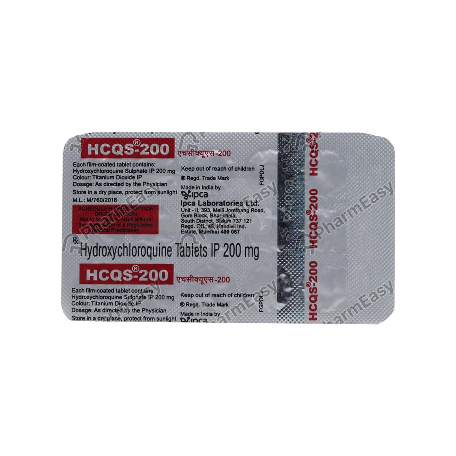 Hcqs 200mg Tablet