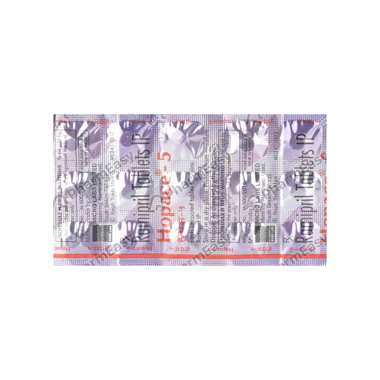 Hopace 5mg Strip Of 15 Tablets