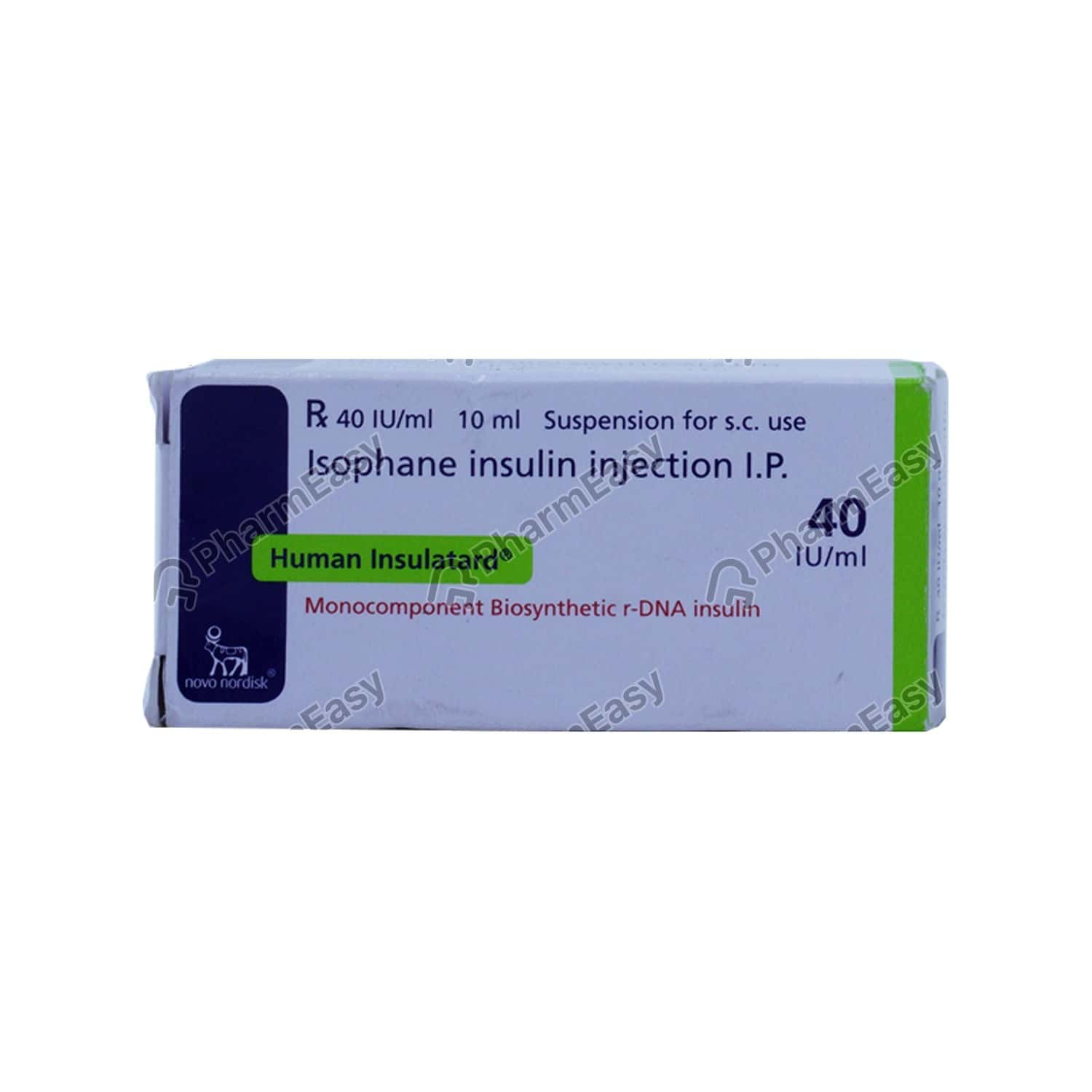 Human Insulatard 40iu Vial Of 10ml Suspension For Injection