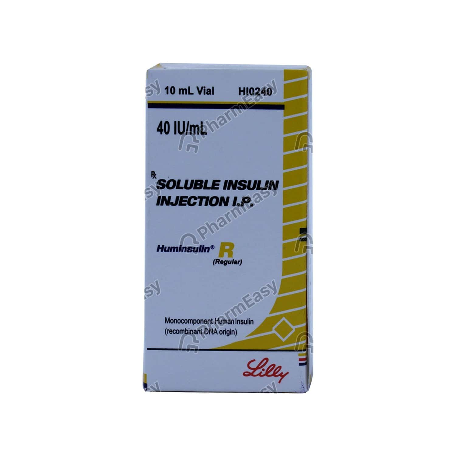 Huminsulin R 40iu Vial Of 10ml Solution For Injection