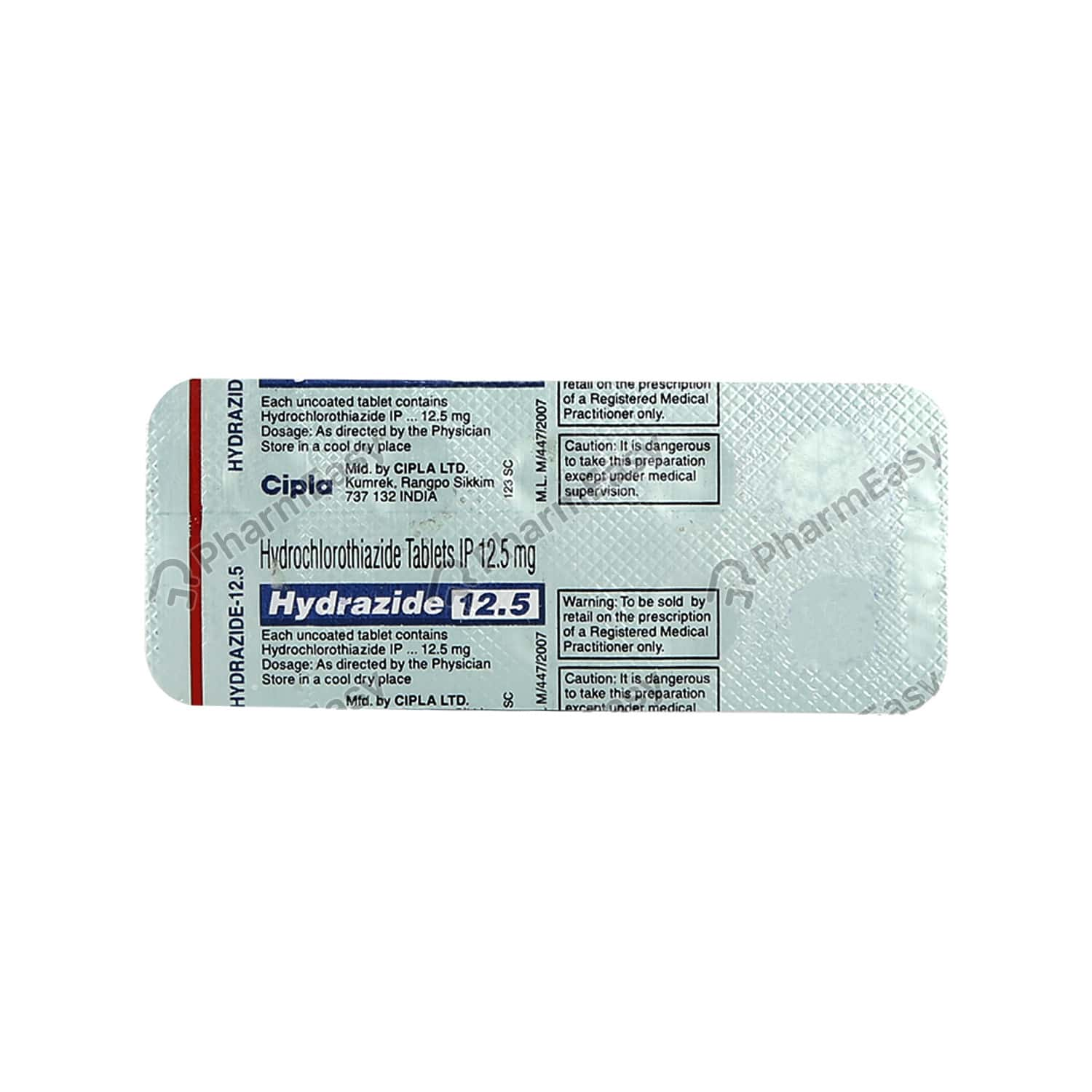 Hydrazide 12.5mg Tablet