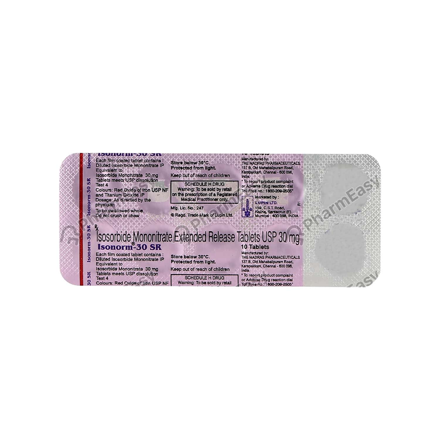 Isonorm Sr 30mg Tablet