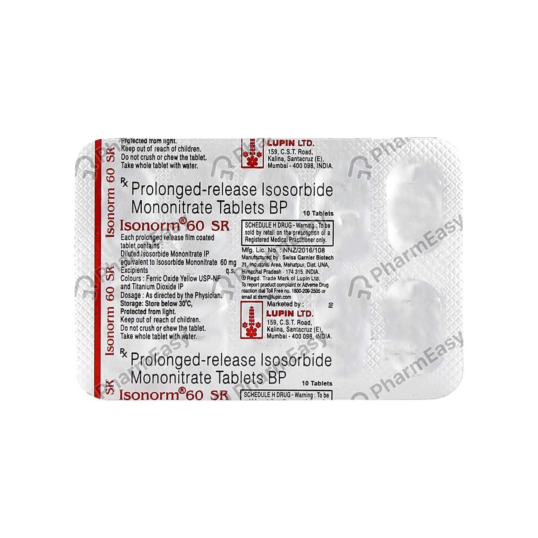 Isonorm Sr 60mg Tablet