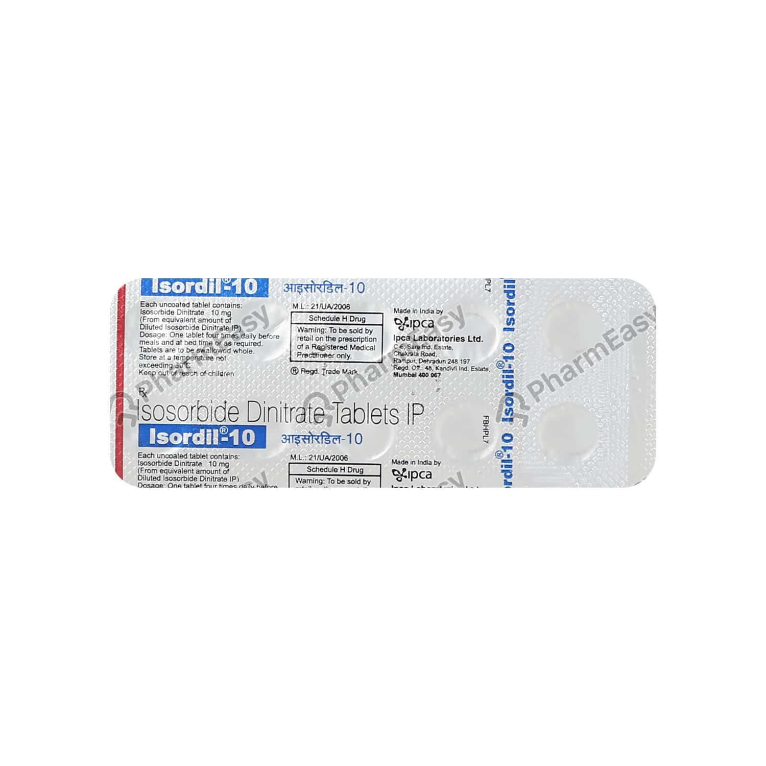 Isordil 10mg Tablet