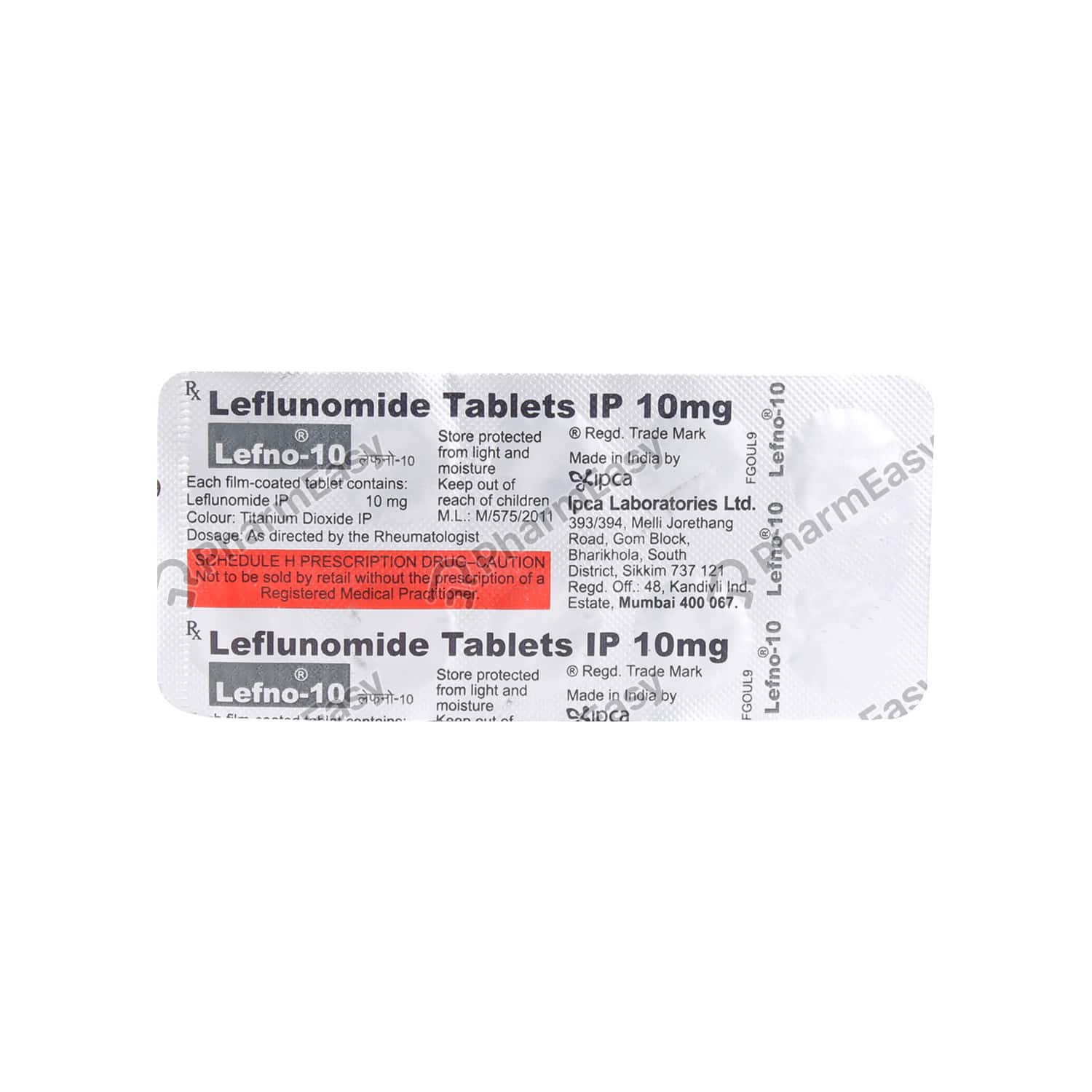 Lefno 10mg Tablet