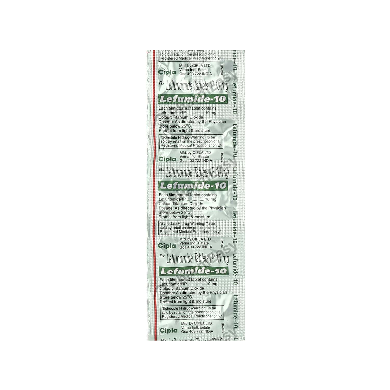 Lefumide 10mg Tablet