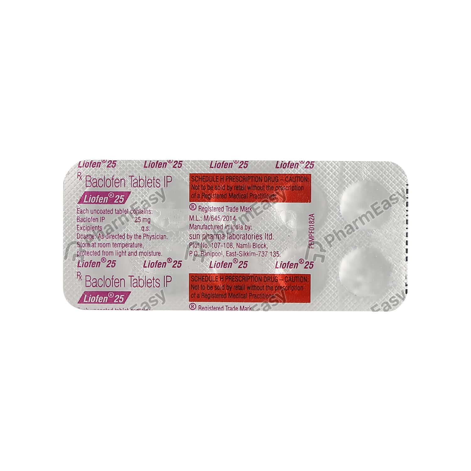 Liofen 25mg Strip Of 10 Tablets