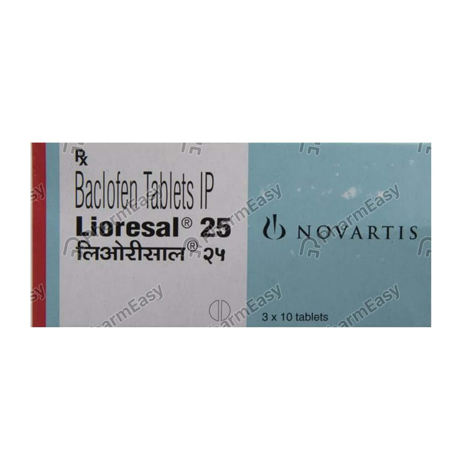 Lioresal 25mg Strip Of 10 Tablets